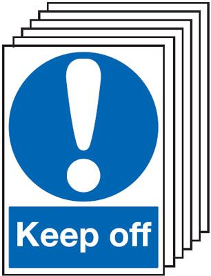 6-Pack Keep Off Signs
