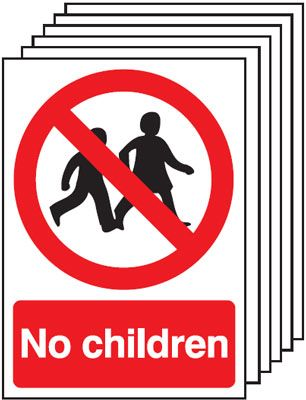 6-Pack No Children Signs