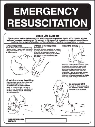 First Aid Wallchart - Emergency Resuscitation