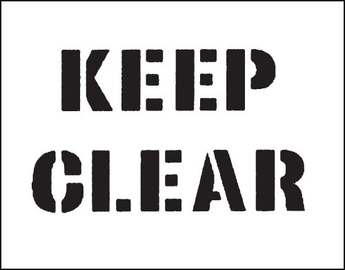 Reusable Industrial Stencils - Keep Clear