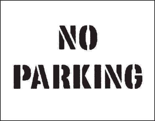 Reusable Industrial Marking Stencils - No Parking