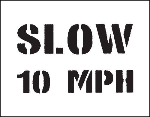 Reusable Industrial Marking Stencils - Slow 10mph