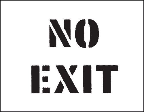 Reusable Industrial Marking Stencils - No Exit