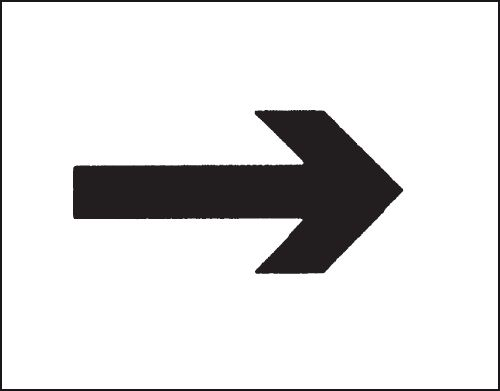 Reusable Industrial Marking Stencils - Right Arrow