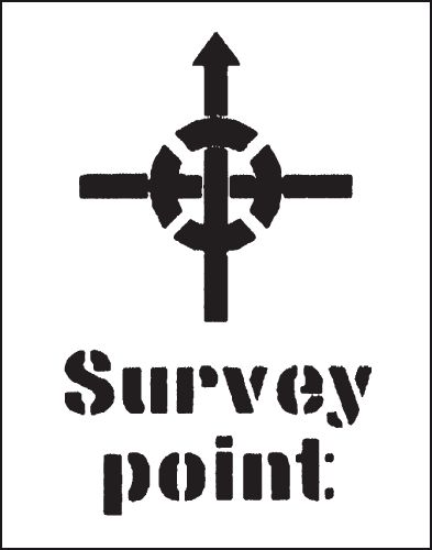 Reusable Industrial Marking Stencils - Survey Point