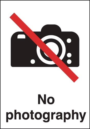 No Photography (Alternative Symbol) Signs