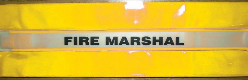 High-Visibility Fire Marshall Armbands