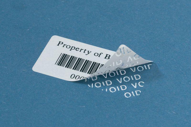 Tamper-Evident Polyester Barcode Labels