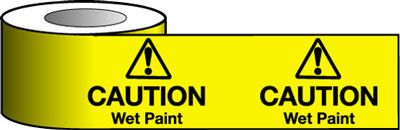 Barrier Warning Tapes - Caution Wet Paint