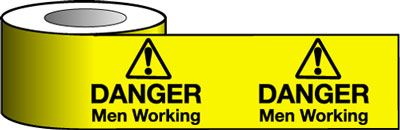 Barrier Warning Tapes - Danger Men Working