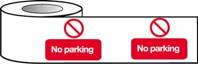 Barrier Warning Tapes - No Parking