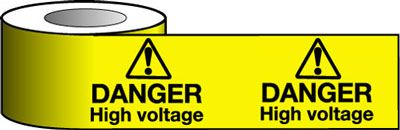 Barrier Warning Tapes - Danger High Voltage