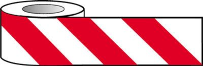 Barrier Warning Tape - Red and White