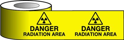 Barrier Warning Tapes - Danger Radiation Area