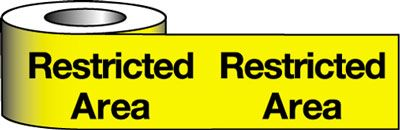 Barrier Warning Tapes - Restricted Area