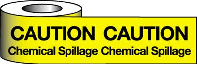 Barrier Warning Tape - Caution Chemical Spillage