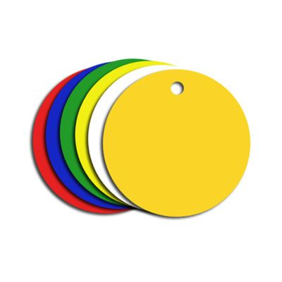 PVC Colour Coded Tags - Circular