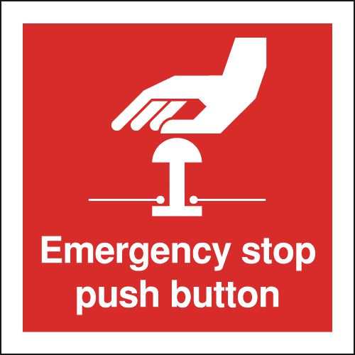 Emergency Stop Push Button Signs
