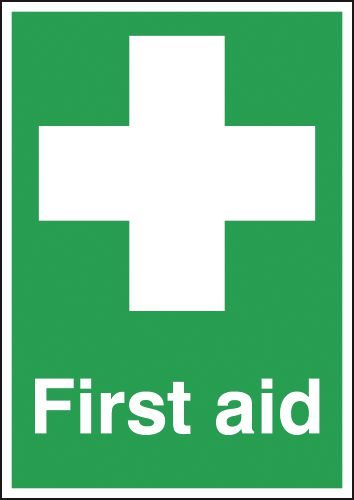 First Aid Window Signs
