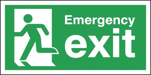 Emergency Fire Exit Running Man Left Sign