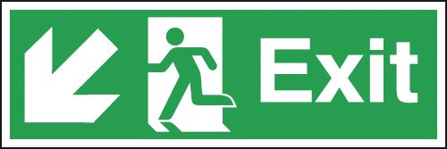Exit Running Man Left Diagonal Arrow Down