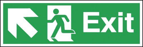 Exit Running Man Left Diagonal Arrow Up