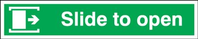 Slide To Open (Right Arrow) Signs