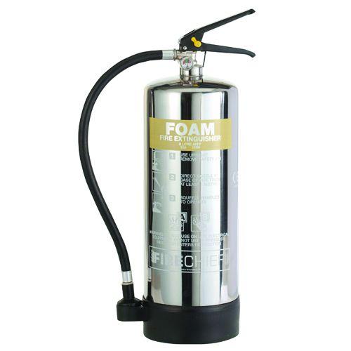 Foam Chrome Effect Fire Extinguishers