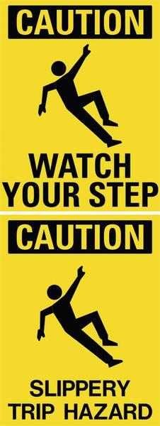 Watch Your Step/Slippery Trip Hazard Floor Stand