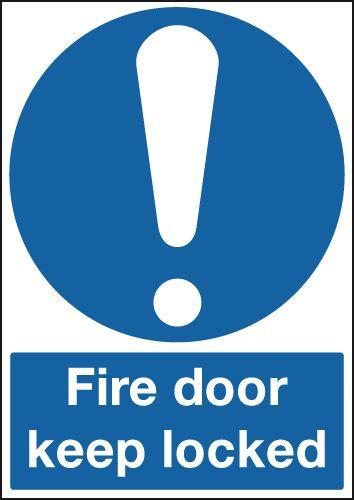 Fire Door Keep Locked (Symbol) Signs