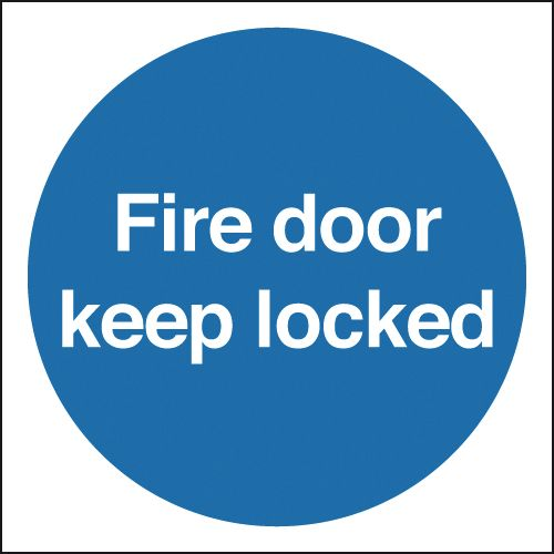 Fire Door Keep Locked Signs