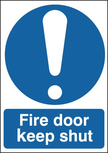 Fire Door Keep Shut Signs - With Symbol
