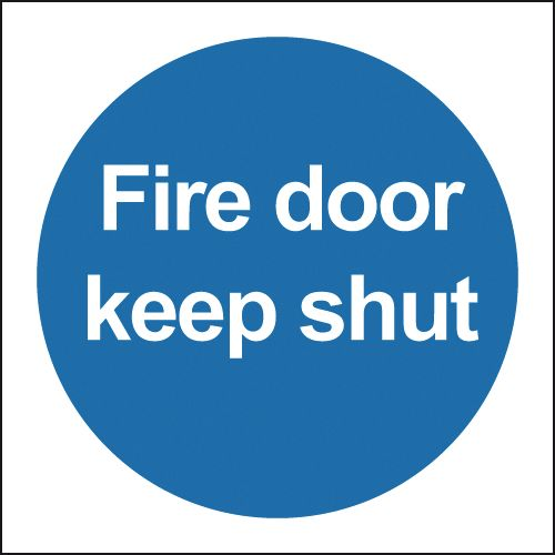 Fire Door Keep Shut Signs