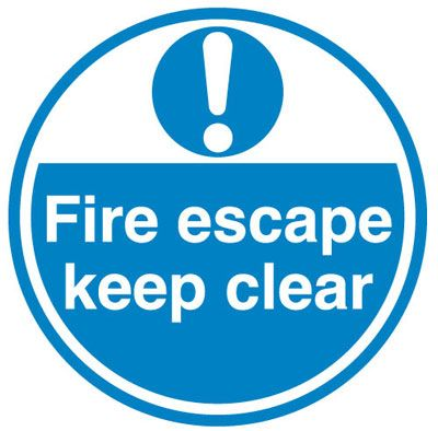 Anti-Slip Floor Signs - Fire Escape Keep Clear