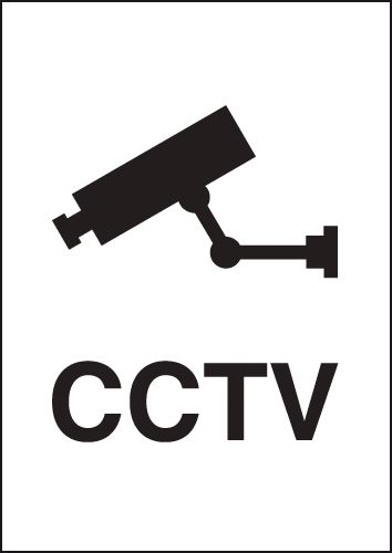 CCTV Metal Look Signs