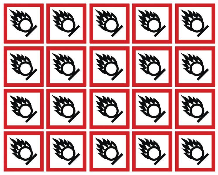 GHS Symbols On-a-Sheet - Oxidising