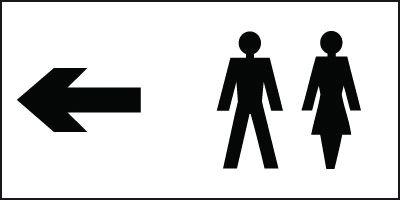 Toilet Direction Sign - Left Arrow