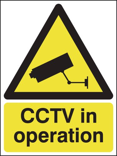 CCTV In Operation Outdoor Aluminium Signs