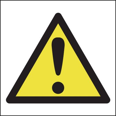 Hazard Warning Symbol Signs