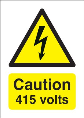 Caution 415 Volts Signs