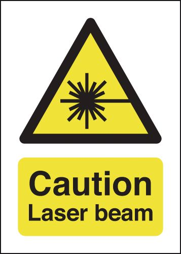Caution Laser Beam Signs
