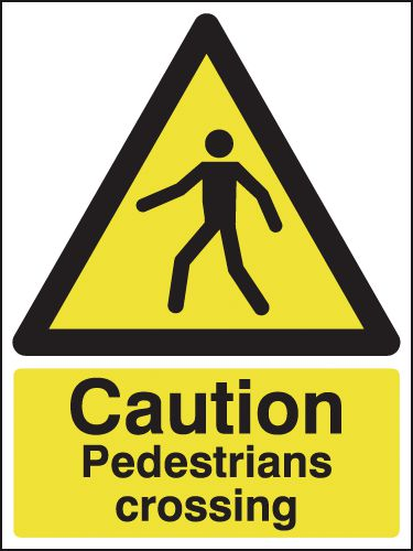 Caution Pedestrians Crossing Signs