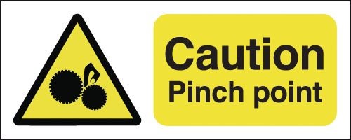 Caution Pinch Point Signs