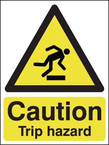 Caution Trip Hazard Signs