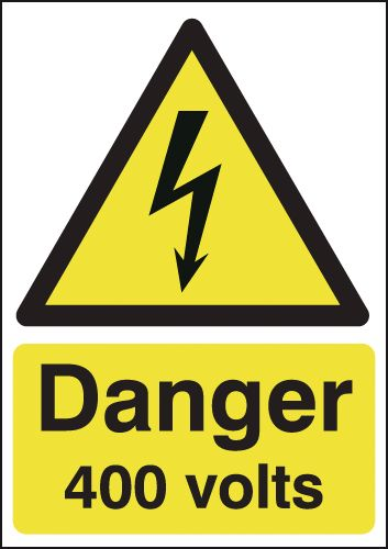 Danger 400 Volts Signs