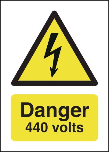 Danger 440 Volts Signs
