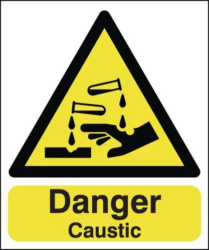 Danger Caustic Signs