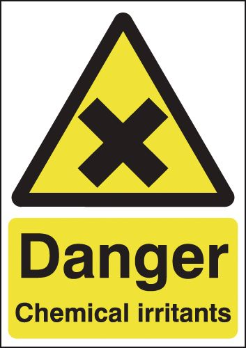 Danger Chemical Irritants Signs