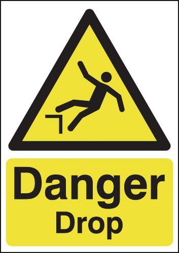 Danger Drop Signs