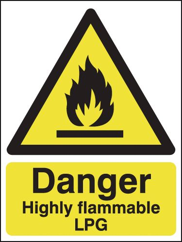 Danger Highly Flammable LPG Signs